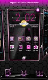 Pink Blend Next launcher - screenshot thumbnail