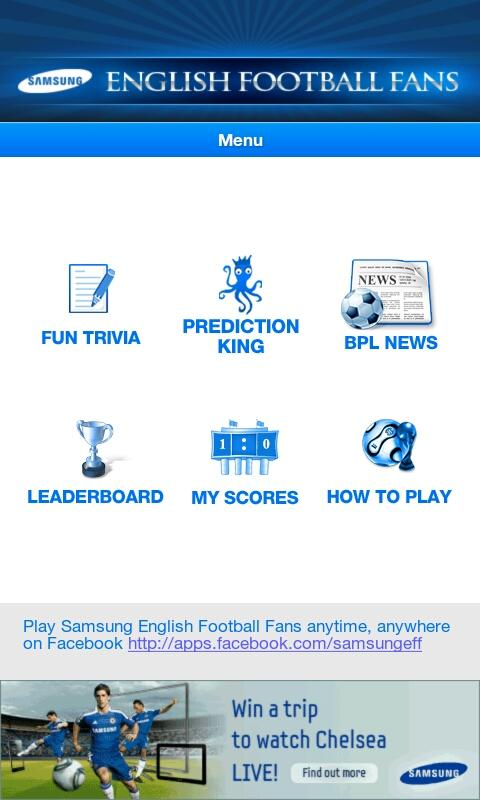Samsung English Football Fans - screenshot