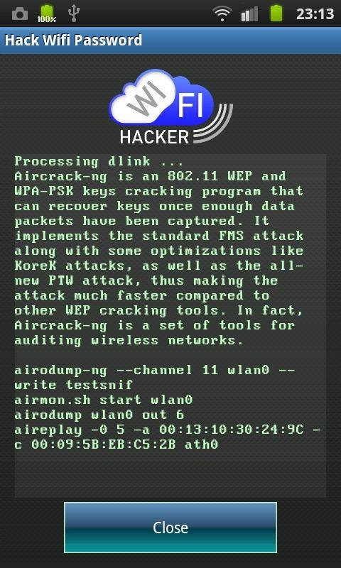 Hack WiFi mật khẩu trò đùa - screenshot