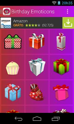 Birthday Emoticons - screenshot