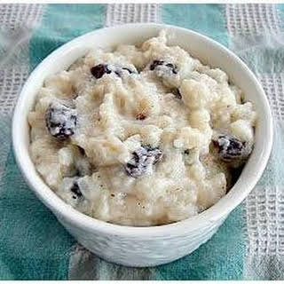 Rice Pudding With Sultanas Recipes.