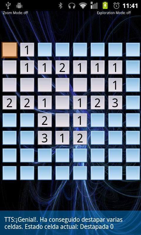 Eyes-free Minesweeper (BFG)- screenshot