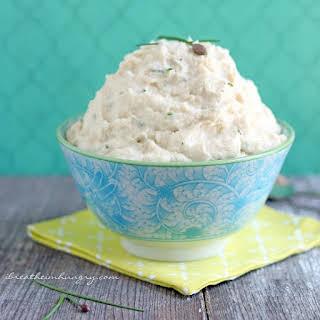 Garlic & Chive Cauliflower Mash – Low Carb and Dairy Free.