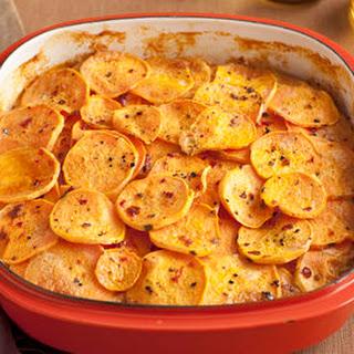 Smoked Chilli Scalloped Sweet Potatoes