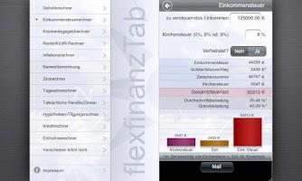 Screenshot of flexfinanz12Tab