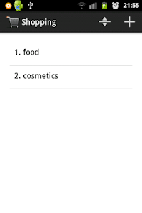 Shopping list screenshot 0