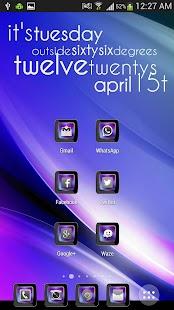 Theme Violet NOVA, APEX, ADW screenshot