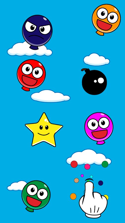 Pop Smiley Balloons - screenshot