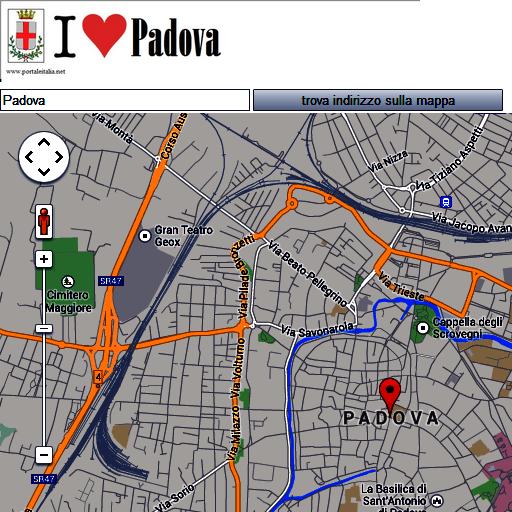 Padova map