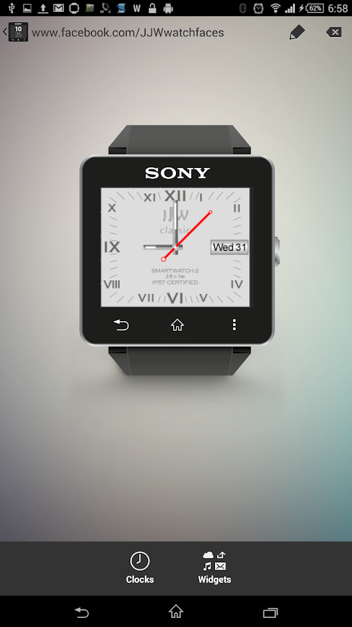 JJW Classic Watch Face 1 SW2- screenshot