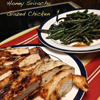 Honey Sriracha Glazed Chicken.