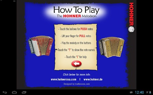 Hohner G/C Button Accordion- screenshot thumbnail