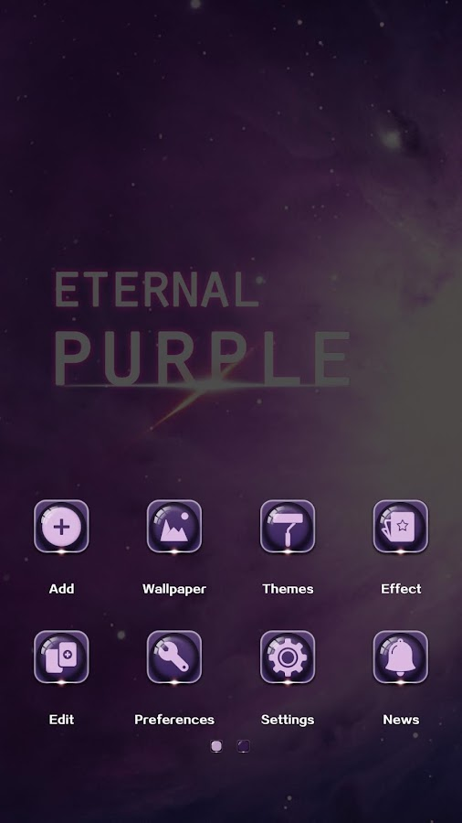 Eternal Purple GO Theme - screenshot