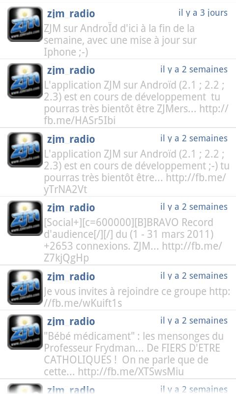ZJM Radio - screenshot