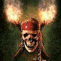 Pirates Skull Torches Of Fire logo