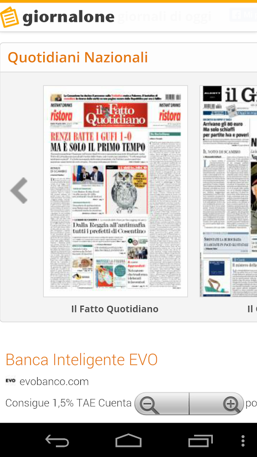 Quotidiani e Giornali Italiani- screenshot