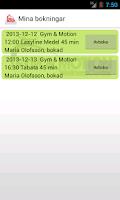 Screenshot of Gym & Motion i Åkersberga
