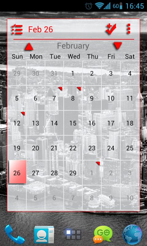 APW Theme BloodRed Light- screenshot