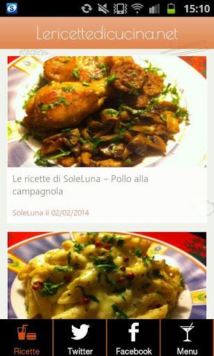Le ricette di cucina