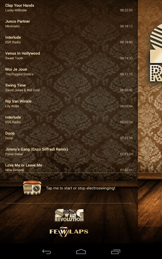 Electro Swing Revolution Radio- screenshot