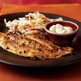 Pan-Fried Catfish with Cajun Tartar Sauce.