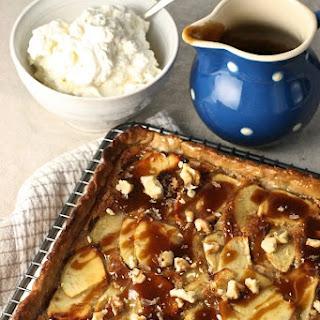 Toffee, Apple and Walnut Tart