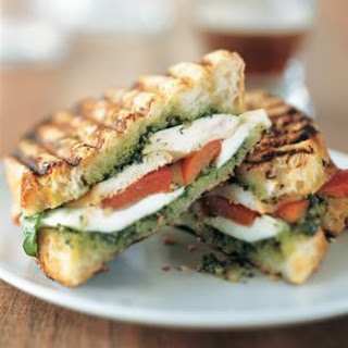 Chicken Panini with Pesto and Mozzarella