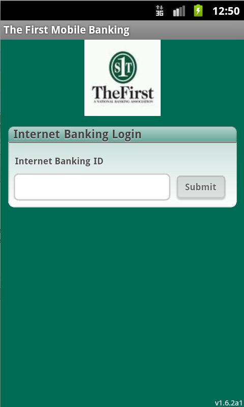 The First Mobile Banking - screenshot