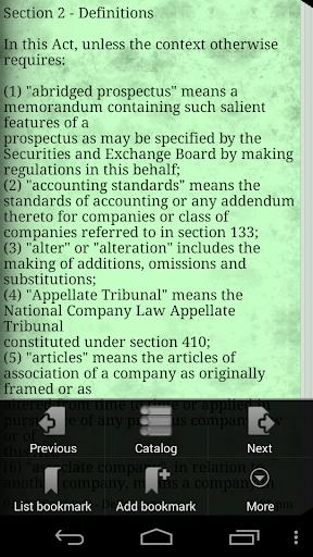 【免費書籍App】Bare Act for Companies Act2013-APP點子