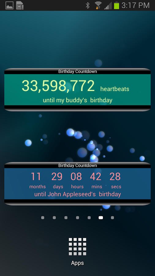 Birthday countdown widget android apps on google play - Birthday countdown wallpaper ...