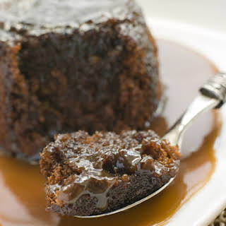 Slow Cooker Chocolate Bread Pudding with Caramel Sauce.
