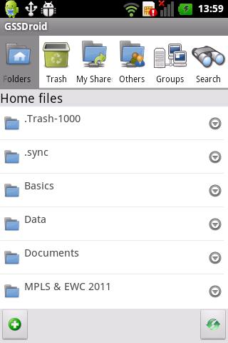 Pithos Android Client - screenshot