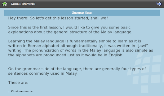 L-Lingo Learn Malay- screenshot thumbnail