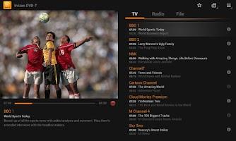 Screenshot of Tivizen DVB-T Wi-Fi for Tablet