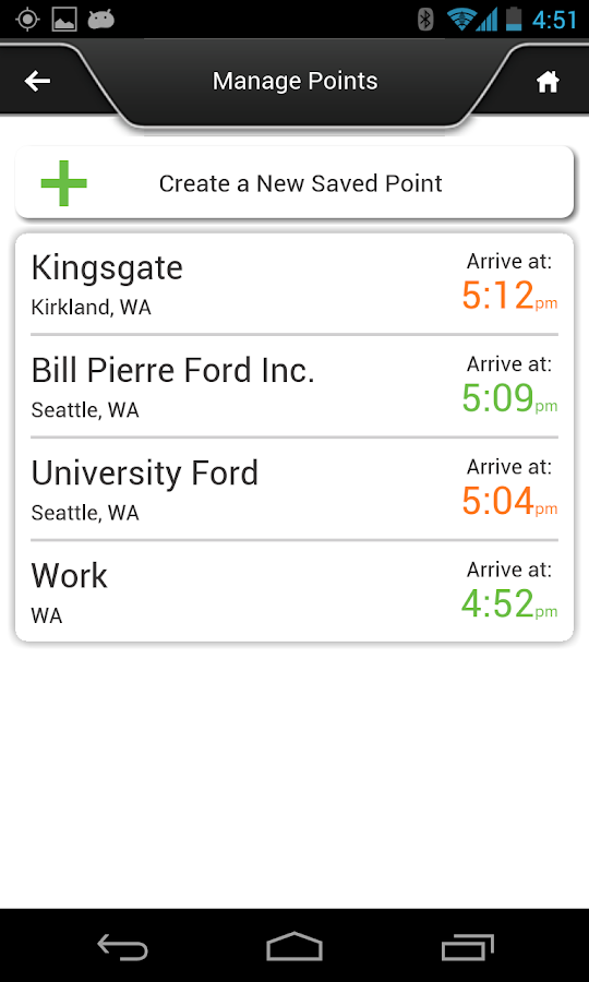 Ford SYNC® Destinations- screenshot