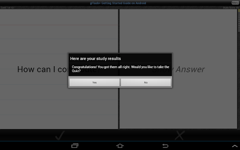 gFlash+ Flashcards & Tests - screenshot thumbnail