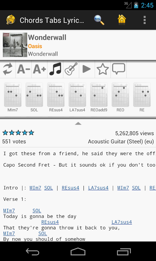 Chords Tabs Lyrics Light- screenshot