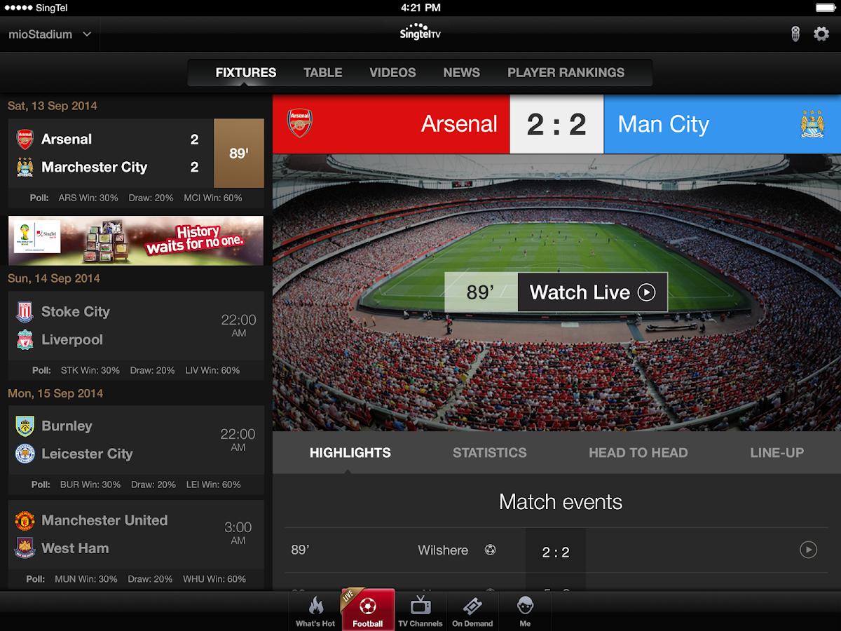 Singtel TV GO - screenshot