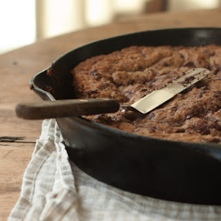 Whole Wheat Chocolate Chip Skillet Cookie.