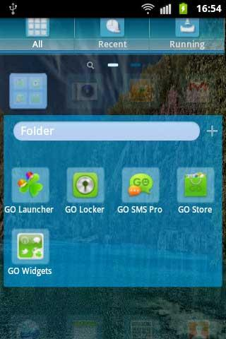 GO Launcher EX Theme Blue Lake - screenshot