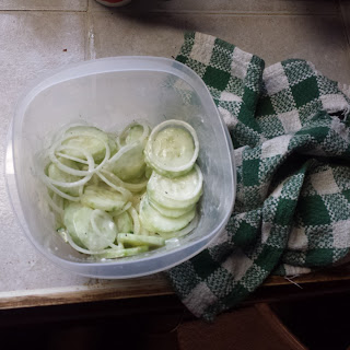 My Favorite creamy cucumber and onion salad