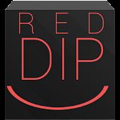 EvolveSMS Theme - Dip Red Dark
