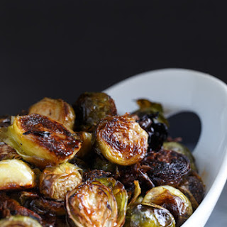 Honey Sriracha Roasted Brussels Sprouts.