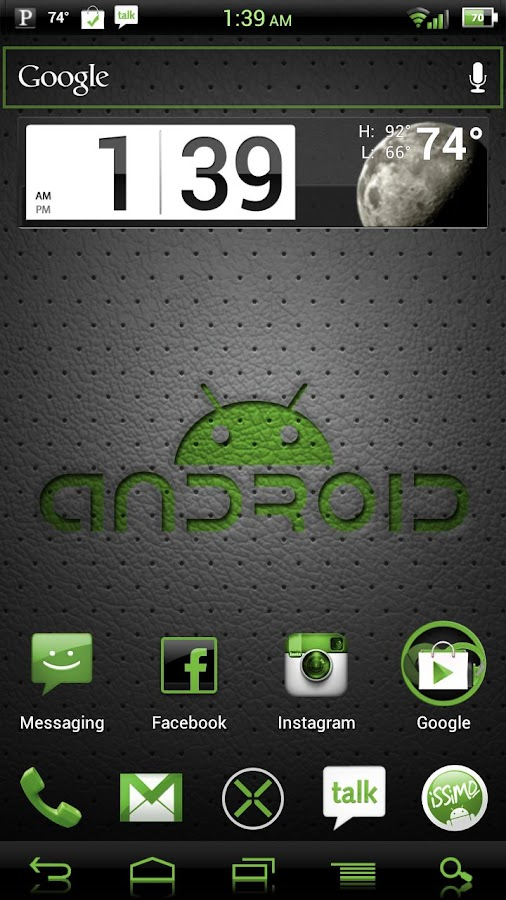 NateModz Green CM10 Theme - screenshot