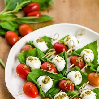 Tomato & Mozzarella Caprese Skewers.