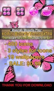 Pink Butterfly Theme Go SMS XO- screenshot thumbnail