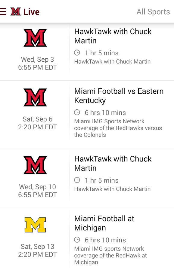 Miami RedHawks: Free - screenshot