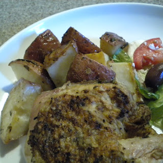 Greek Grilled...Then Roasted Chicken and Potatoes