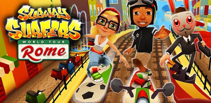 Subway Surfers Mod APK v1.8.0 Rome Update {Unlimited Coins}