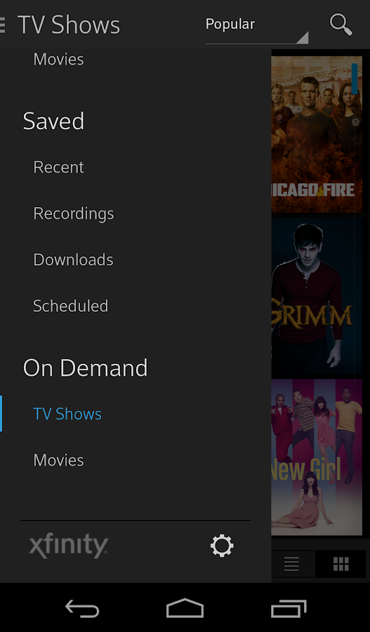 Xfinity tv android apps on google play for Mirror xfinity app to tv